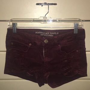 AE distressed shorts